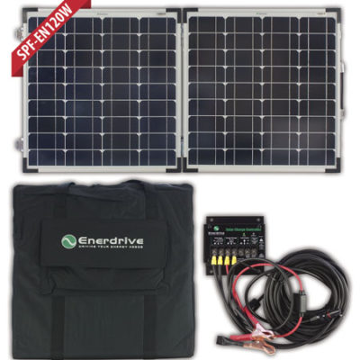 120W Folding Solar Panel Kit