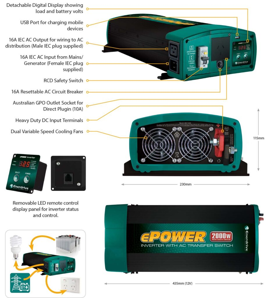 ePOWER Inverter Features.