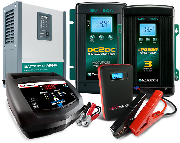 Enerdrive Battery Chargers & Jump Starters.