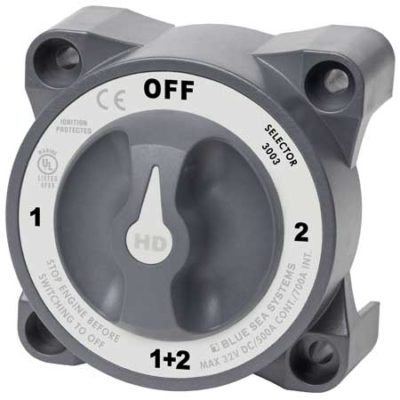 HD-Series Heavy Duty Selector Battery Switch with AFD