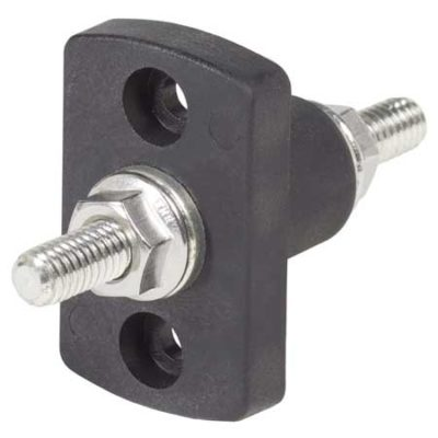 "Terminal Feed Through Connector - 5/16""-18 Studs (Black)"