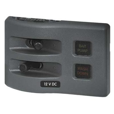 WeatherDeck® 12V DC Waterproof Fuse Panel - Gray 2 Positions