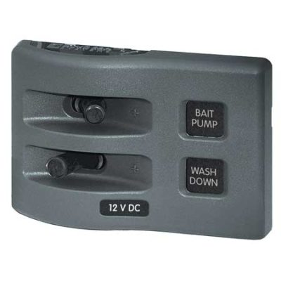 WeatherDeck® 12V DC Waterproof Switch Panel - 2 Position