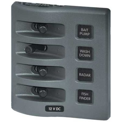 WeatherDeck® 12V DC Waterproof Switch Panel - 4 Position