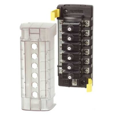 ST CLB Circuit Breaker Block - 6 Position with Negative Bus