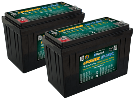 ePOWER B-TEC Lithium Battery range with Bluetooth™ Technology.