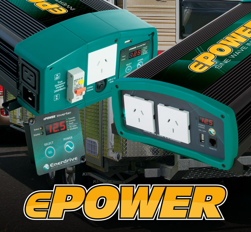 Enerdrive ePOWER Inverter with Safety Switch