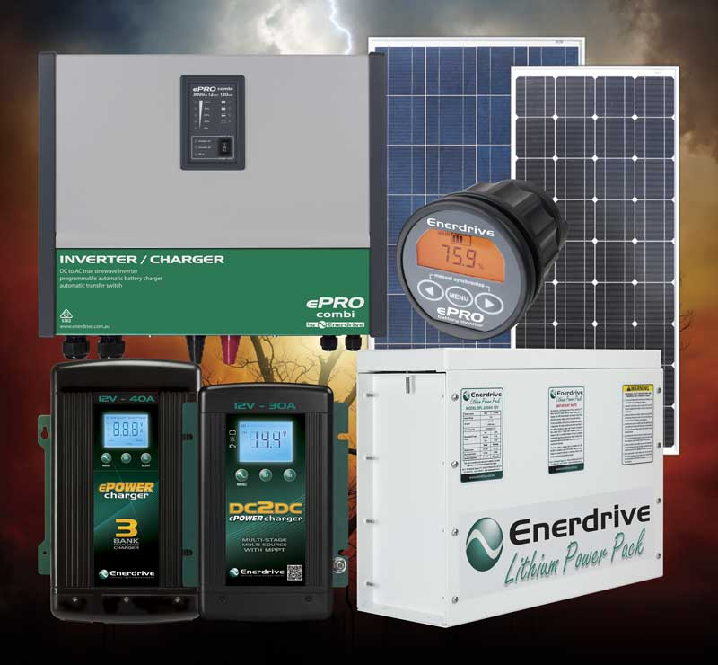 Enerdrive Lithium Batteries and Installation Kits