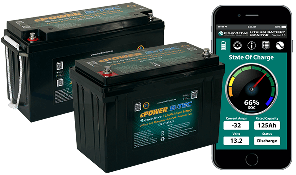 ePOWER B-TEC Lithium Battery with Smart Monitoring.
