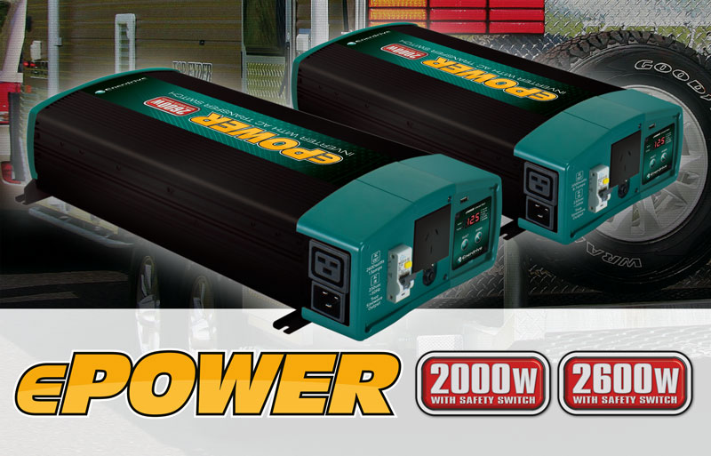 New ePOWER Inverter with AC Transfer & Safety Switch Protection