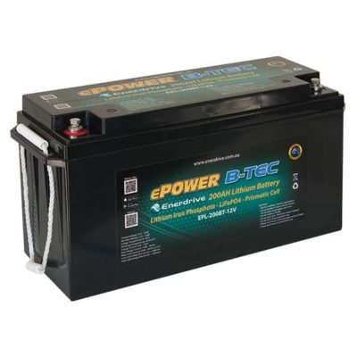 ePOWER B-Tec 200Ah Lithium Battery.