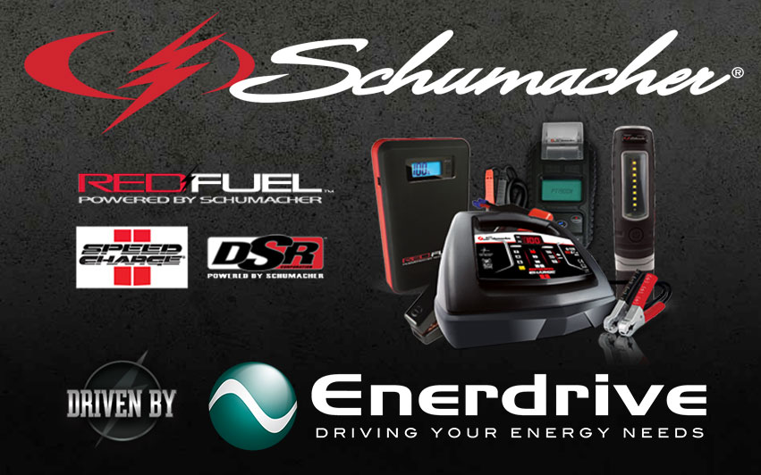 Schumacher Electric, driven by Enerdrive.