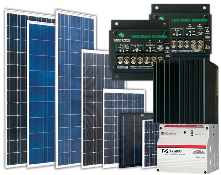 Solar Panels & Solar Controllers.