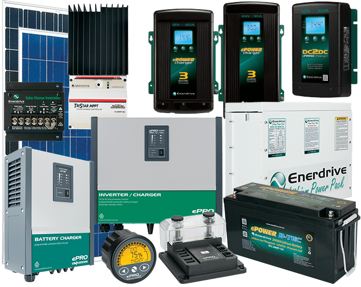 Enerdrive Lithium Battery Systems. All The Hardware.