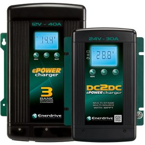Enerdrive DC2DC Battery Charger compact size.