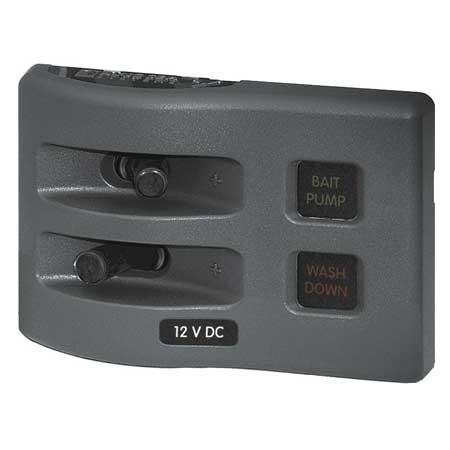 weatherdeck 12v dc waterproof fuse panel gray 2. Black Bedroom Furniture Sets. Home Design Ideas