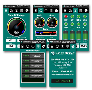 Enerdrive Battery Monitor App for Android and IPhone.